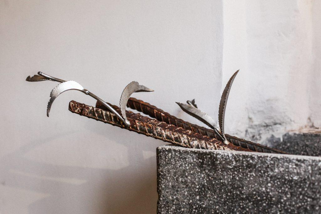 "Algis Kasparavičius. Instaliacijos ""The Garden/Restart"" detalė (Nuotr. aut. A. Karečka)"