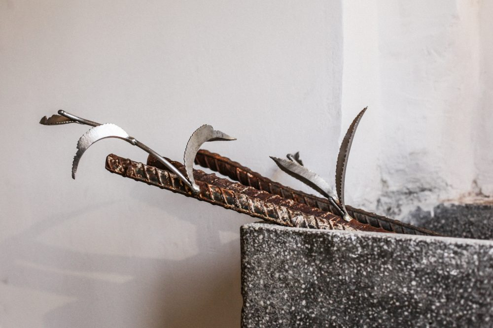 "Algis Kasparavičius. Detail of installation ""The Garden/Restart"" (Photo by A. Karečka)"